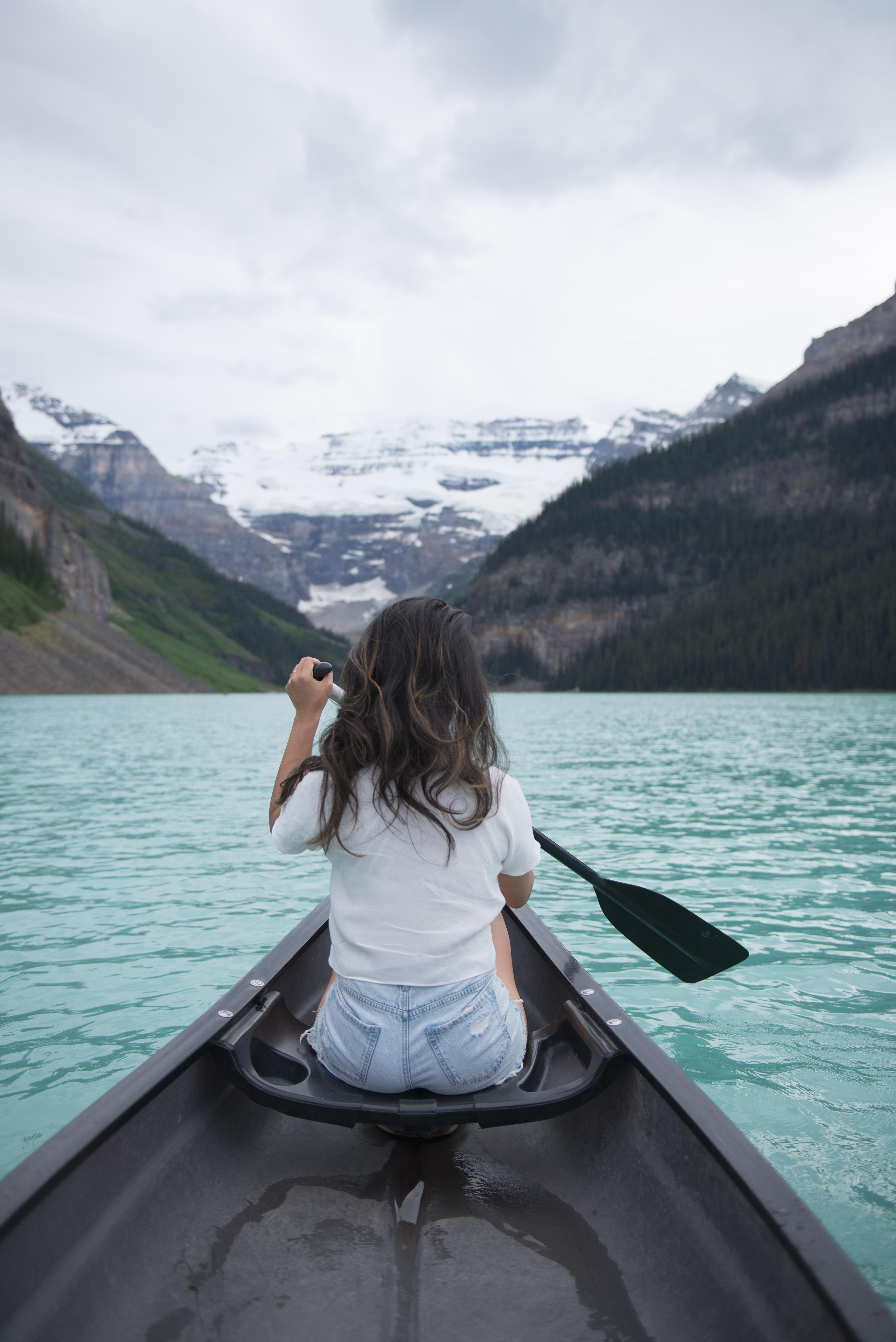 Summer Road Trip to Banff, Alberta - Canoeing Lake Louise