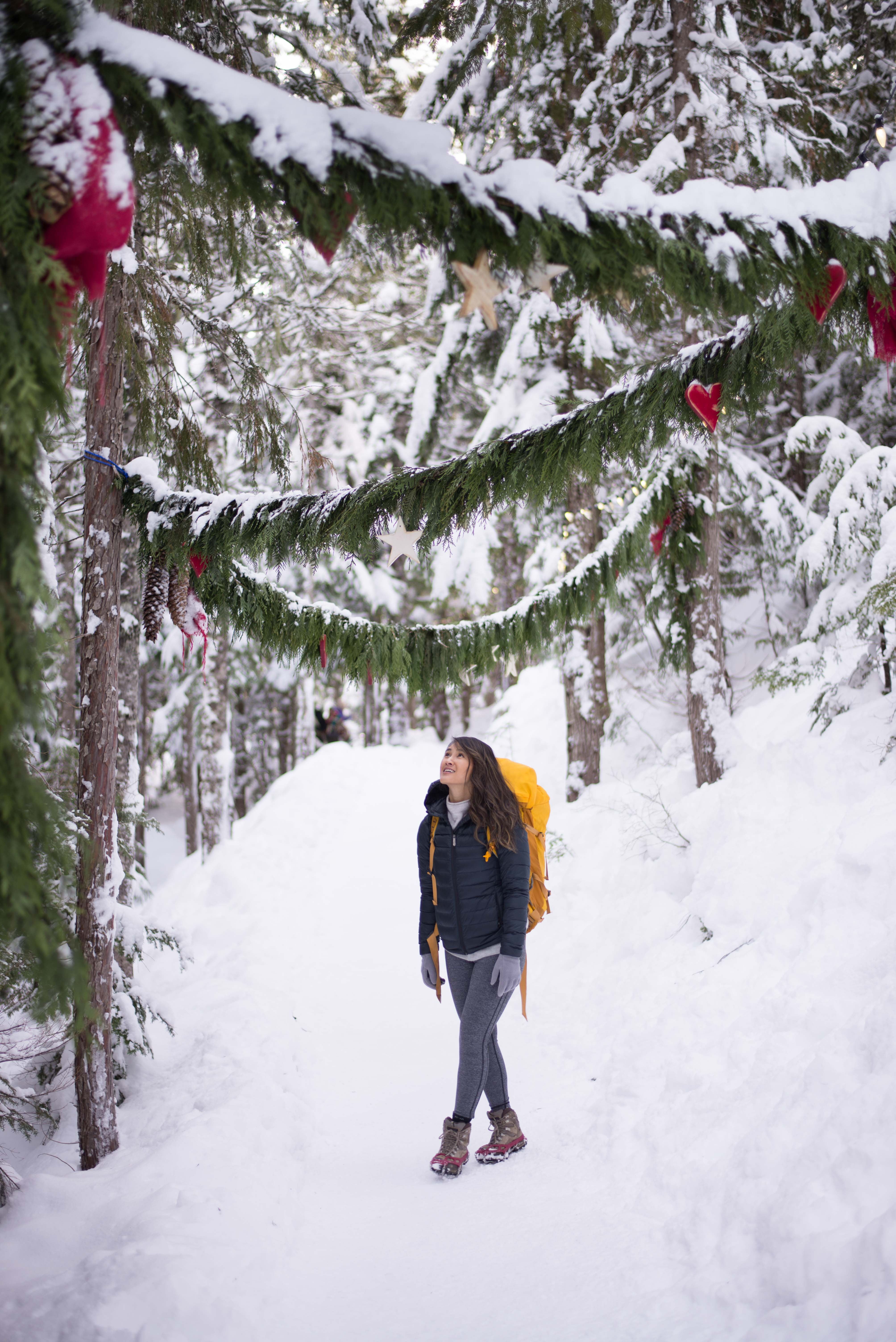 Hiking and snowshoeing at Sea to Sky Gondola in Squamish, British Columbia #explorecanada #camandtay
