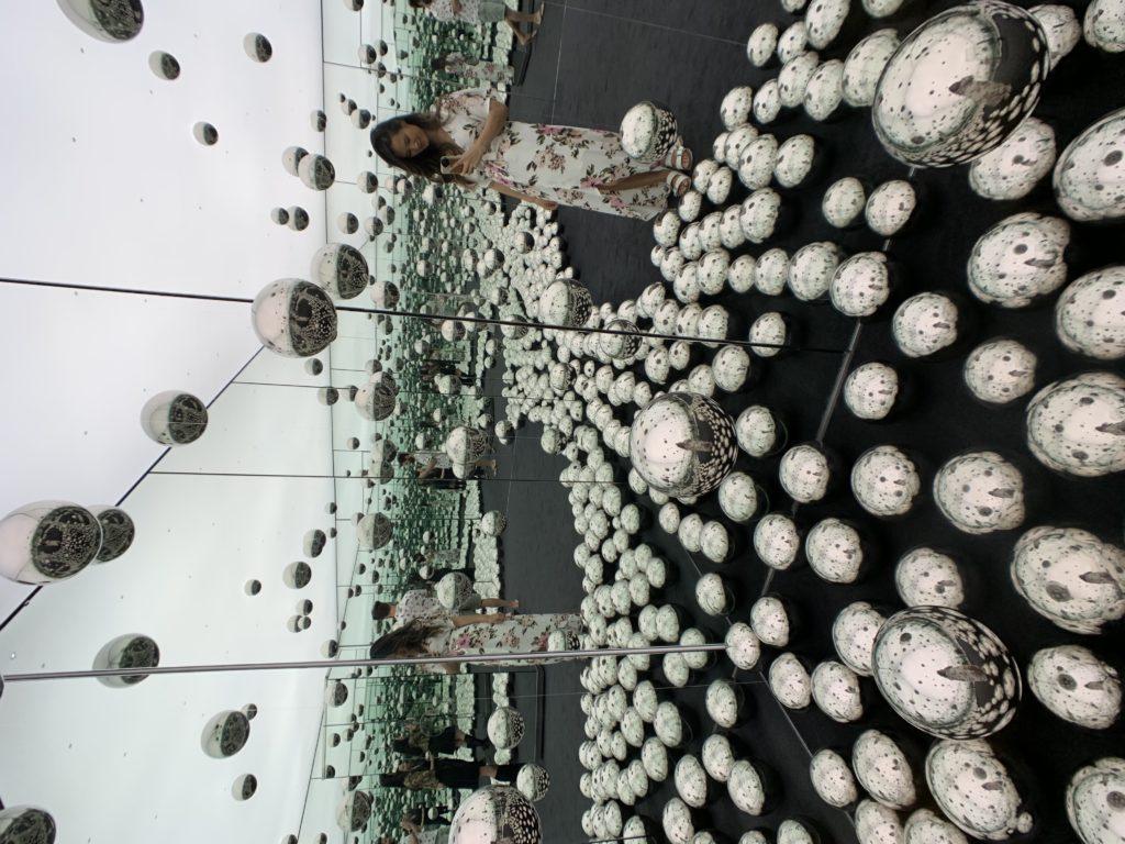 Yayoi Kusama's infinity mirrored room in Toronto, AGO
